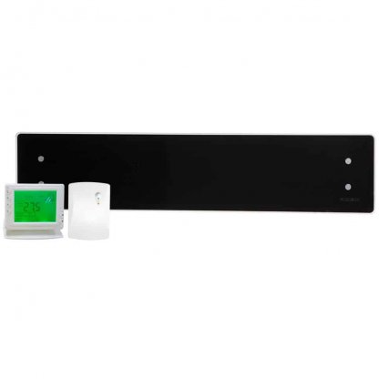 ADAX CLEA GLASS Electric Panel Heater, Low Profile + Wireless Timer, Thermostat