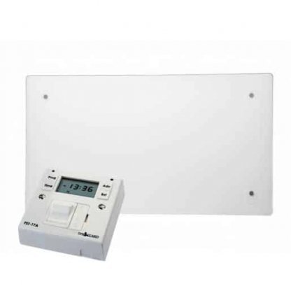 ADAX CLEA GLASS Electric Panel Heater, Wall Mounted, Flat + Fused Spur Timer