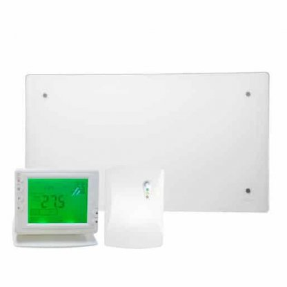 ADAX CLEA GLASS Electric Panel Heater, Wall Mounted + Wireless Timer, Thermostat