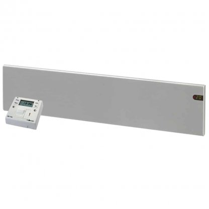 ADAX NEO Modern Electric Panel Heater, Low Profile + Fused Spur Timer