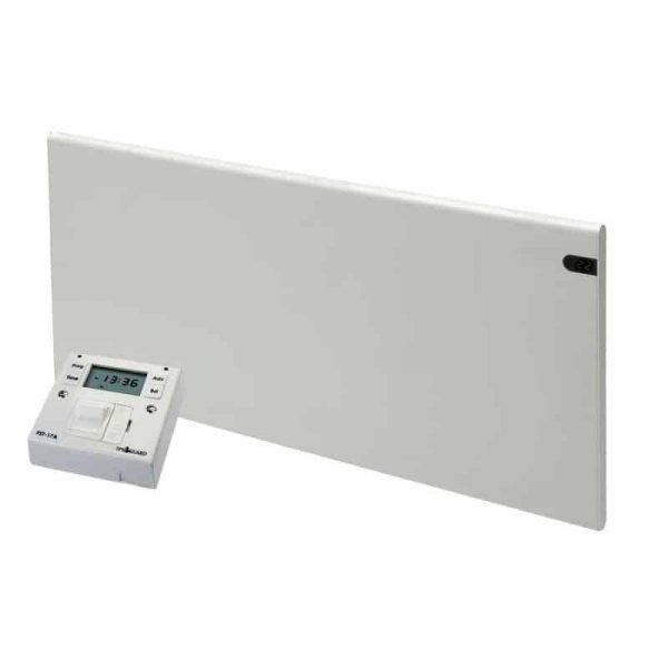 ADAX NEO Modern Electric Panel Heater, Wall Mounted, Flat + Fused Spur Timer