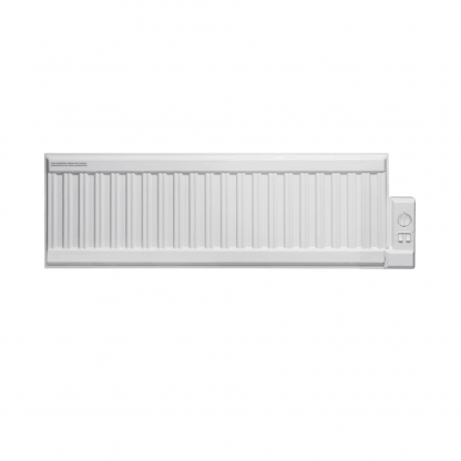 Adax ALO eco Oil-Filled Electric Radiator, Low Profile + Fused Spur Timer