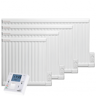 Adax APO eco Oil-Filled Electric Radiator + Fused Spur Timer