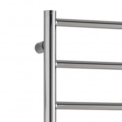 Aura Ronda Modern Heated Towel Rail, Chrome - Electric + Fused Spur Timer