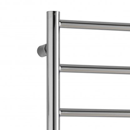 Aura Ronda Modern Heated Towel Rail, Chrome - Electric + Wireless Timer, Thermostat