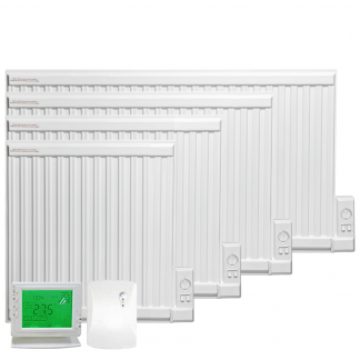 Adax APO eco Oil-Filled Electric Radiator + Wireless Timer, Thermostat