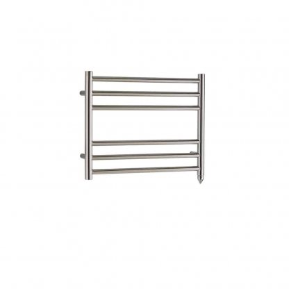 Aura Steel Stainless Steel Modern Heated Towel Rail - Electric + Fused Spur Timer