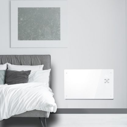 Reno Glass Smart Electric Wall Heater, Wifi Control With Timer, Thermostat