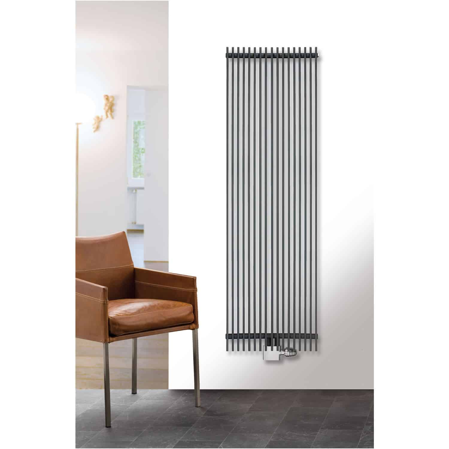 Eucotherm Atlas Side Flat Panel Modern Vertical Radiator