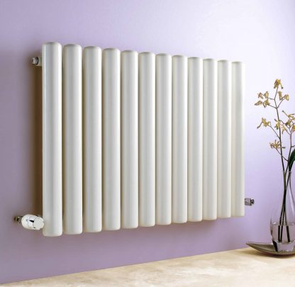 Eucotherm Vulcan Hollow Round Tube Modern Designer Vertical / Horizontal Radiator- Central Heating