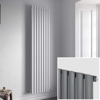 Eucotherm Nova SINGLE Modern Designer Vertical Oval Tube Radiator, Tall - Central Heating