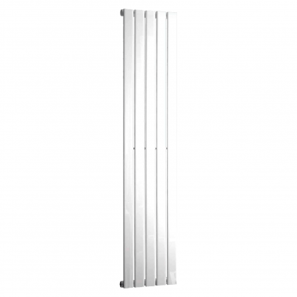 Aura Heat Vertical Flat Panel Designer Radiator For Central Heating - Ice White