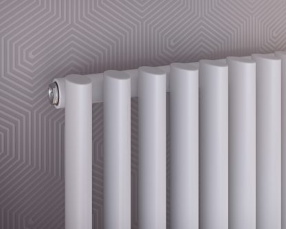 Eucotherm Nova EDGE Modern Designer Vertical Oval Tube Radiator, Tall - Central Heating