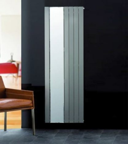 Eucotherm Mars SINGLE MIRROR Radiator, Modern, Vertical, Flat Panel, Tall - Central Heating