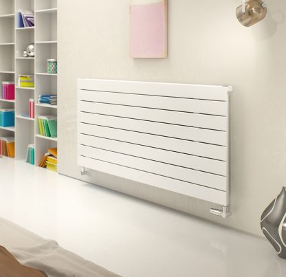 Eucotherm Mars DELUXE Single Flat Panel Modern Horizontal Radiator, Wide - Central Heating
