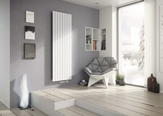 Eucotherm Mars Single Flat Panel Modern Vertical Radiator, Tall - Central Heating
