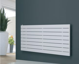 Eucotherm Mars Single Flat Panel Modern Horizontal Radiator, Wide - Central Heating