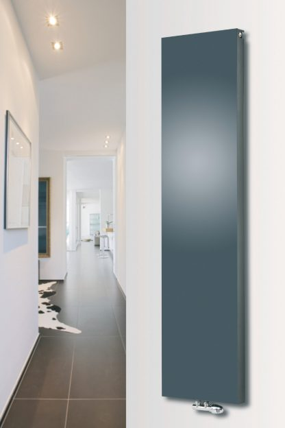 Eucotherm Mars SOLID DUO Double Flat Panel Modern Vertical Radiator, Tall - Central Heating