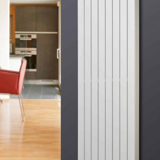 Eucotherm Mars DELUXE Single Flat Panel Modern Vertical Radiator, Tall - Central Heating