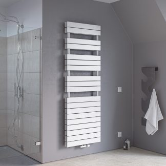 Eucotherm Mars Primus DUO Large Flat Panel Modern Heated Towel Rail / Warmer - Central Heating