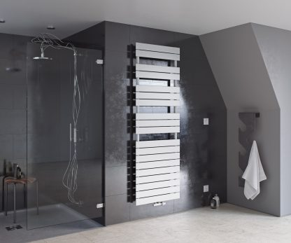 Eucotherm Mars Primus SINGLE Flat Panel Modern Heated Towel Rail / Warmer - Central Heating