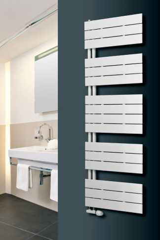 Eucotherm Mars Trius Side Arm Flat Panel Modern Heated Towel Rail / Warmer - Central Heating