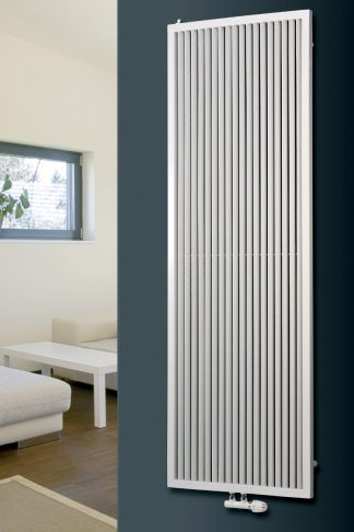 Eucotherm Corona Framed Round Tube Modern Designer Vertical Radiator, Tall - Central Heating
