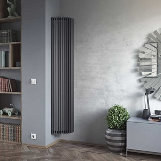 Eucotherm Chrorus CORNER Triangle Tube Modern Vertical Designer Radiator, Tall - Central Heating
