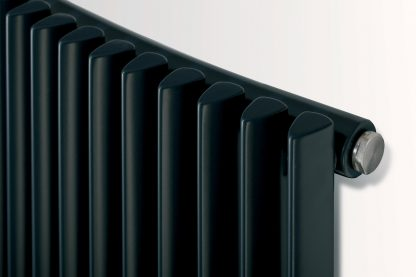 Eucotherm Chrorus CURVED Triangle Tube Modern Vertical Designer Radiator, Tall - Central Heating