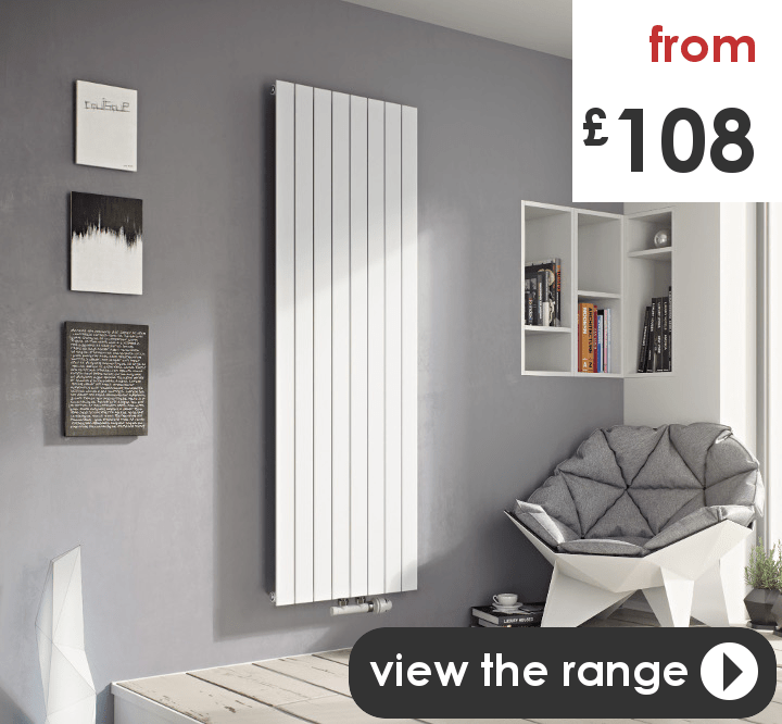 Buy designer radiators for central heating online - UK shop. Vertical and Horizontal styles, modern, flat panel, oval tube, round tube, high heat output.