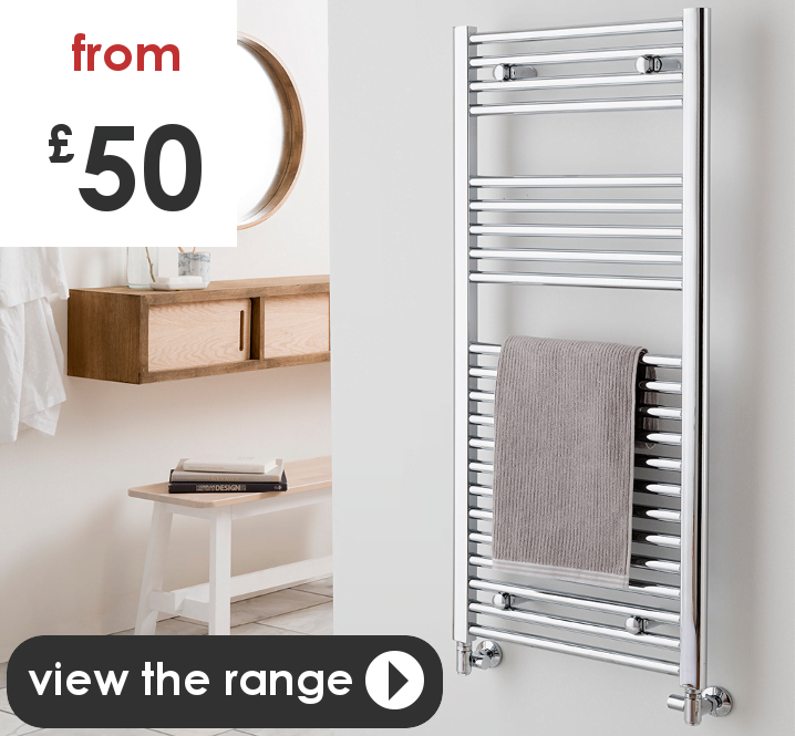 Buy heated towel rails / warmers / radiators for central heating, dual fuel, electric, thermostatic electric. Also timer option. UK online shop.