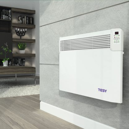 Tesy CN04 Wifi Electric Panel Heater, Wall Mounted With Timer, Splash Proof
