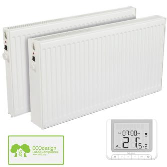 Huber Oil Filled Electric Heater + Timer, Wall Mounted Radiator £213-£269