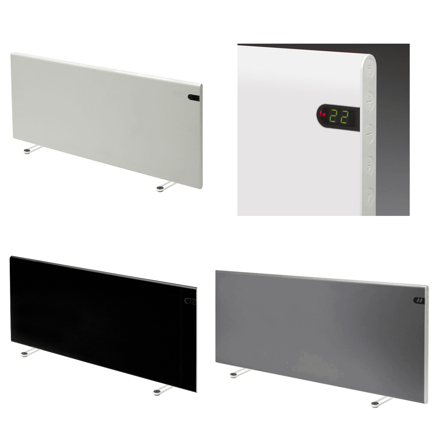 Adax Neo Portable Electric Heater With Timer, Modern Convector Radiator