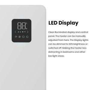 Caldo Slimline WiFi Electric Panel Heater, Wall Mounted or Portable Radiator 3