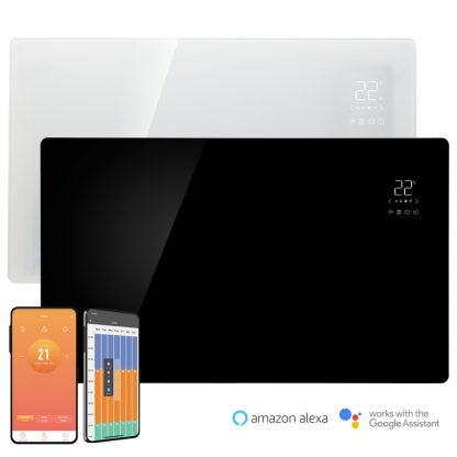 Buy Vitra Glass Wifi Panel Heater / Smart Electric Radiator + Timer. £129
