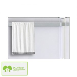 Radialight Klima Infrared Bathroom Electric Heater With Towel Rail, 750W, Wall Mounted. Timer & Thermostat. Energy Saving Features. Economic & Efficient.