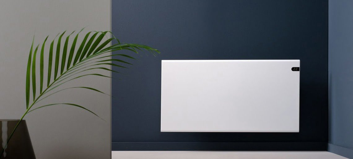 Adax Neo Basic Electric Panel Heater, Modern, Wall Mounted With Timer