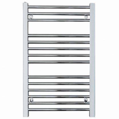 Aura 25 Black Straight Heated Towel Rail / Bathroom Radiator - Central Heating