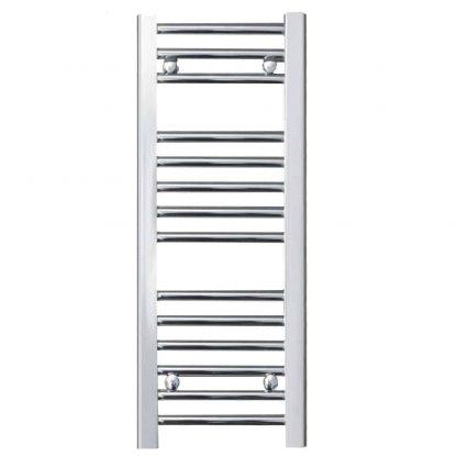 Aura 25 Anthracite Straight Heated Towel Rail / Bathroom Radiator - Central Heating